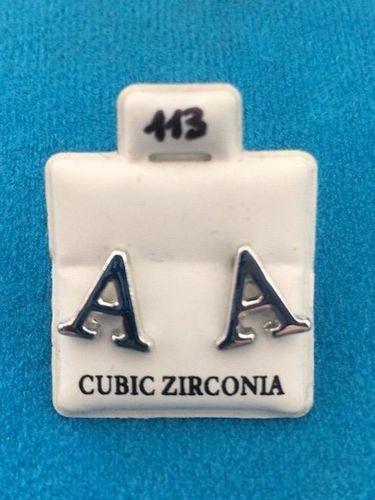Orecchini Lettere A CZ113