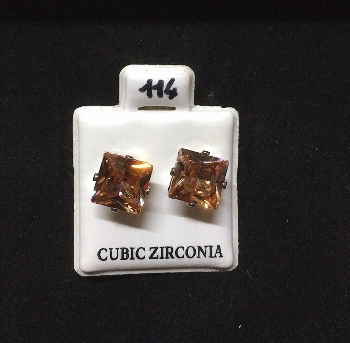 Orecchini Cristalli Beige CZ114