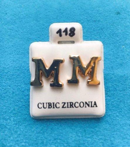 Orecchini Lettere M CZ118