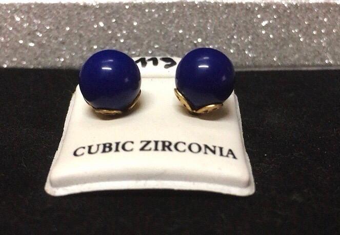 Orecchini Palline Blu CZ119