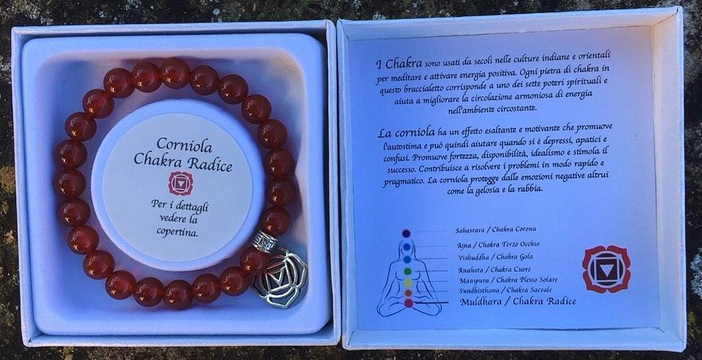 Braccialetto Corniola Chakra BCor99