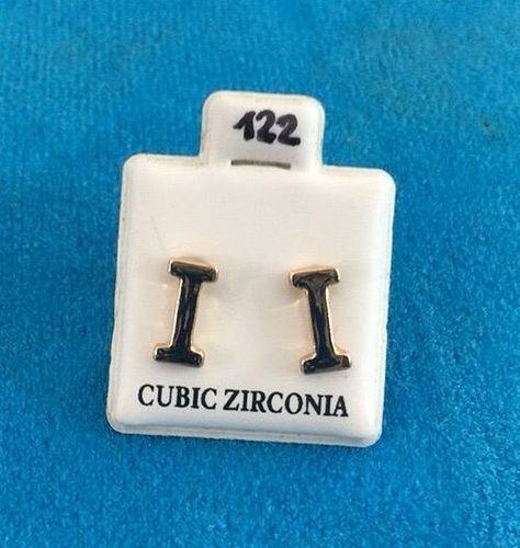 Orecchini Lettere I CZ122