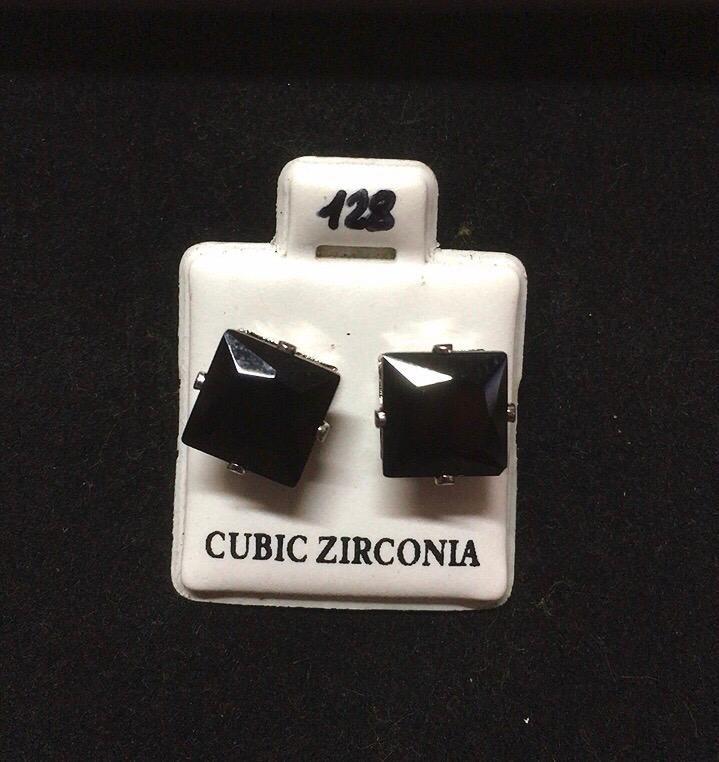 Orecchini Cristalli Neri CZ128