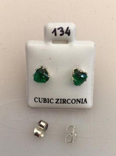 Orecchini Cristalli Verdi CZ134
