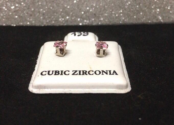 Orecchini Cristalli Rosa CZ139