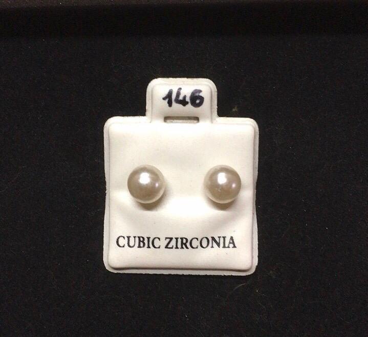 Orecchini Perle Bianche CZ146