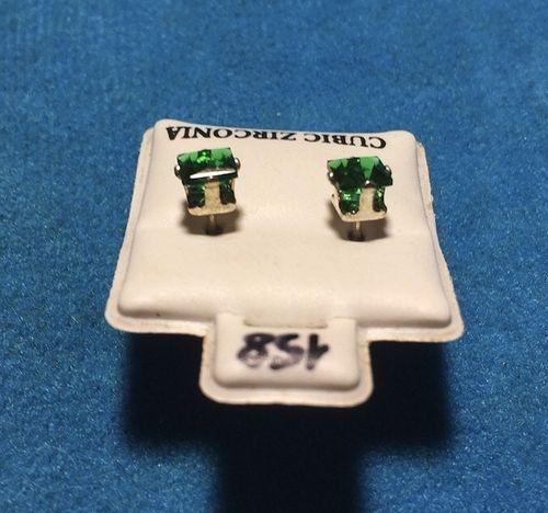 Orecchini Cristalli Verdi CZ158