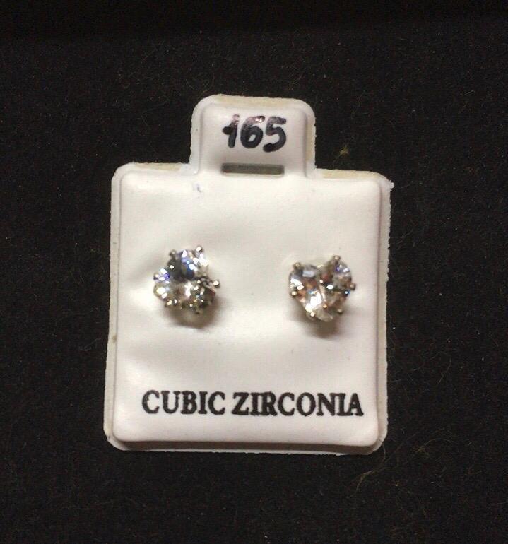 Orecchini Cristalli Bianchi CZ165