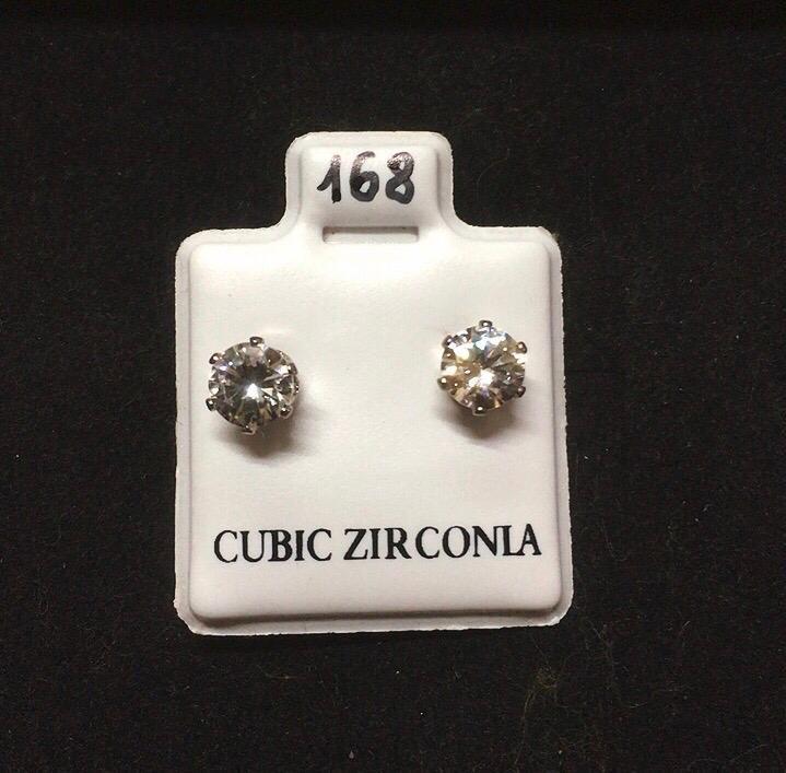 Orecchini cristalli Bianchi CZ168