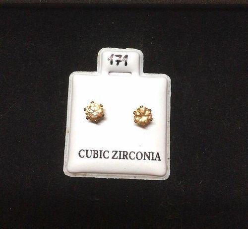 Orecchini Cristalli Beige CZ171