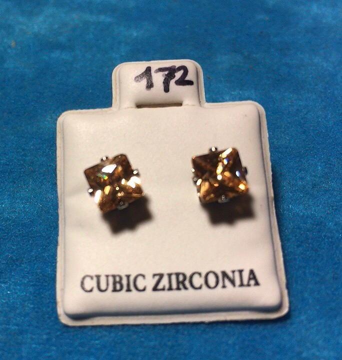 Orecchini Cristalli Beige CZ172
