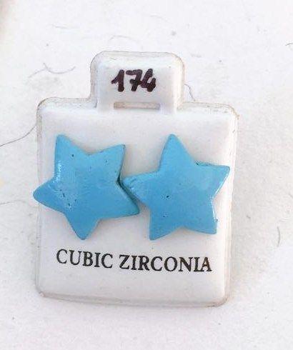 Orecchini Stelle Azzurre CZ174