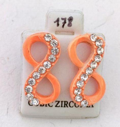 Orecchini Infinito Arancio CZ178