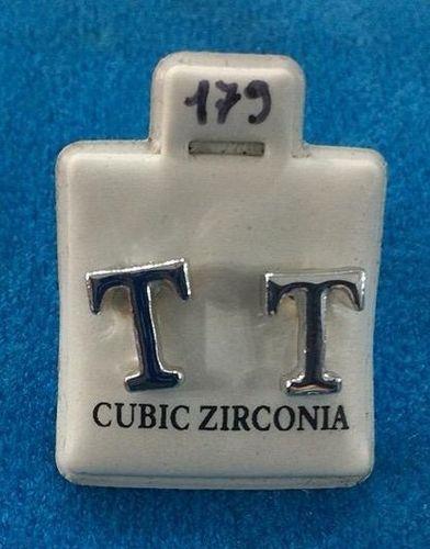 Orecchini Lettere T CZ179
