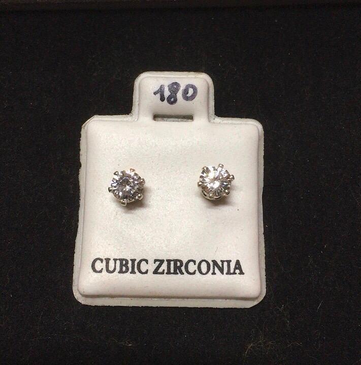 Orecchini Cristalli Bianchi CZ180