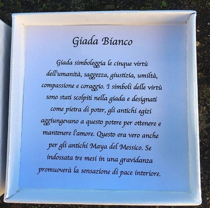 Braccialetto Giada Bianca BPi74
