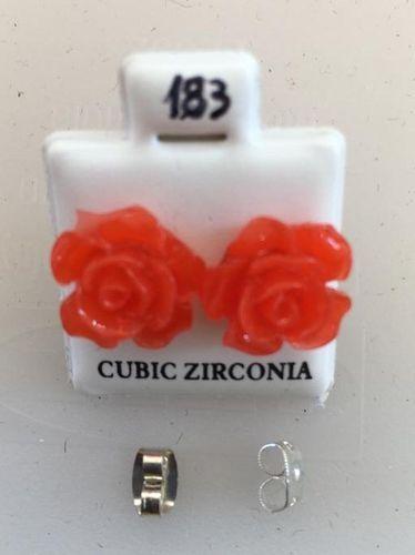 Orecchini Rose Rossa CZ183
