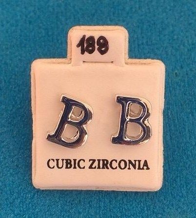 Orecchini Lettere B CZ188
