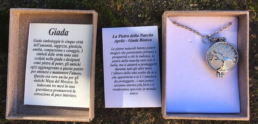 Collana Albero Vita Giada Bianca CGBi01