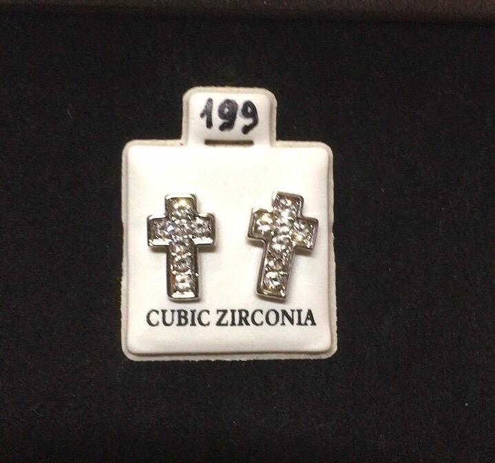 Orecchini Croci Strass CZ199
