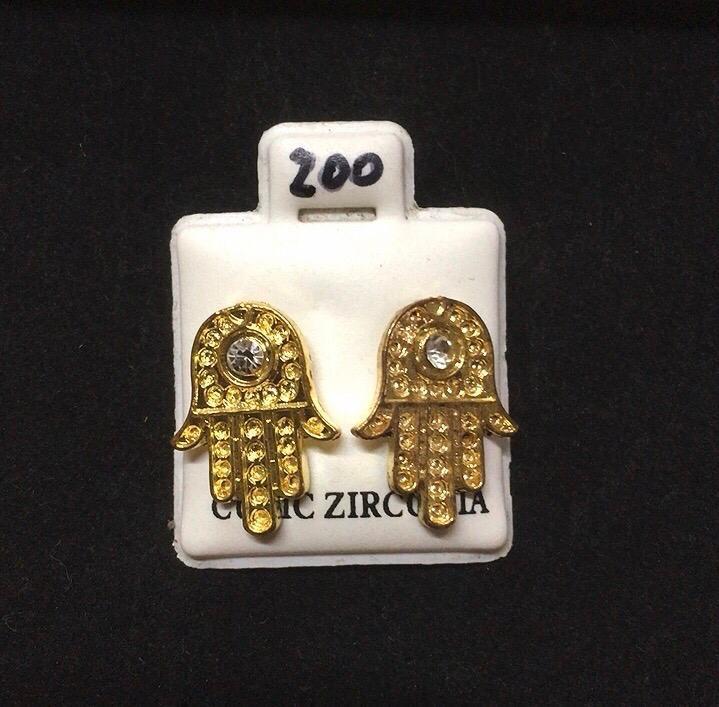 Orecchini Mano Fatima Oro CZ200