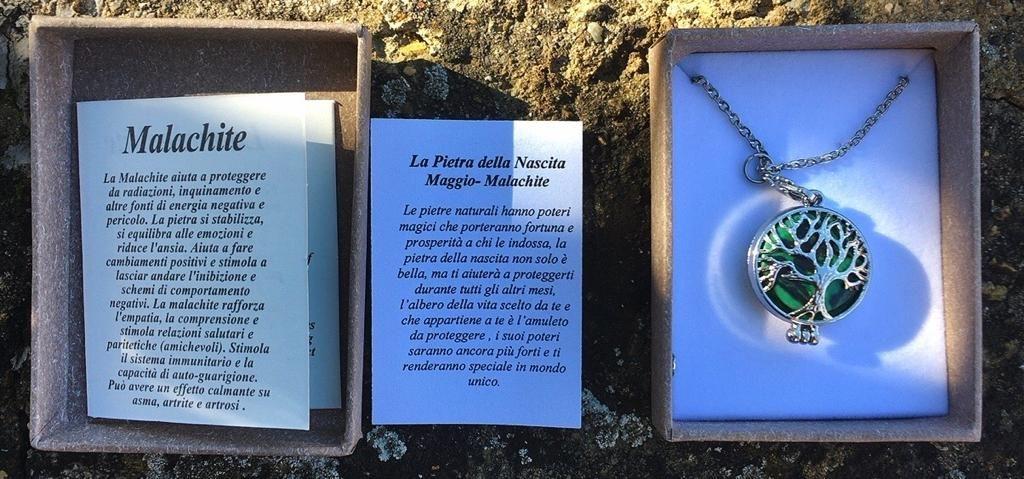Collana Malachite Albero Vita CMal01