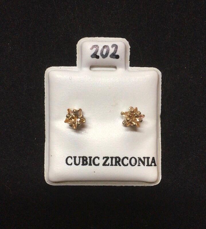 Orecchini Cristalli Beige CZ202
