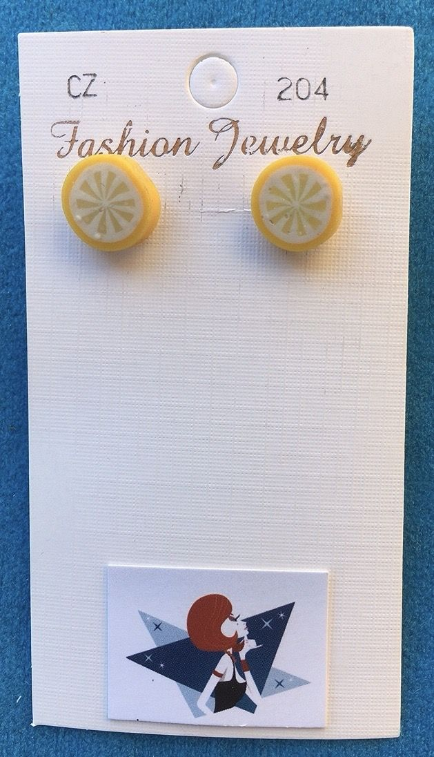 Orecchini Fettine Arancio CZ204