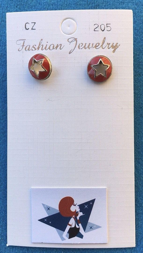 Orecchini Stelle Rosse CZ205