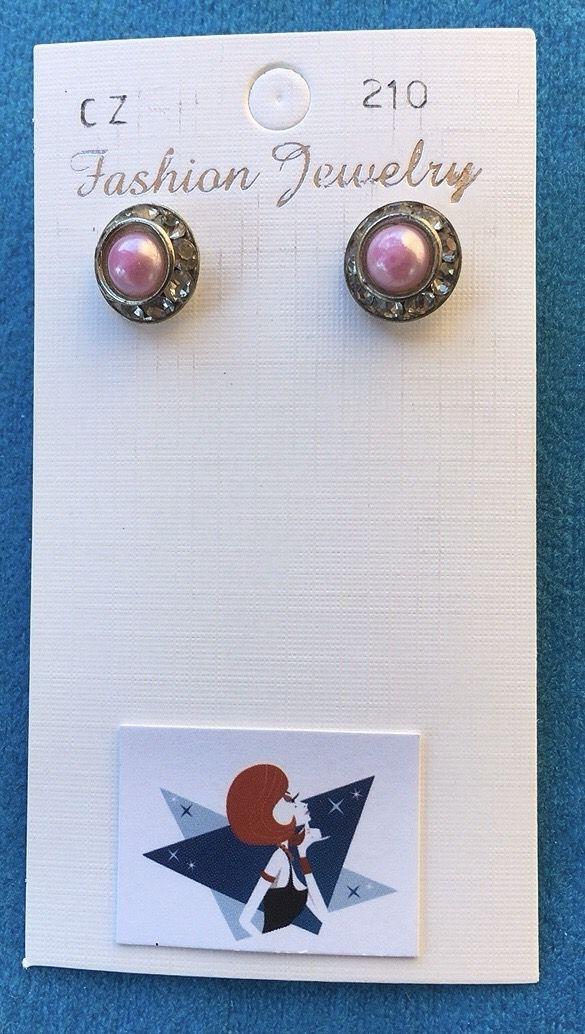 Orecchini Perle Rosa CZ210
