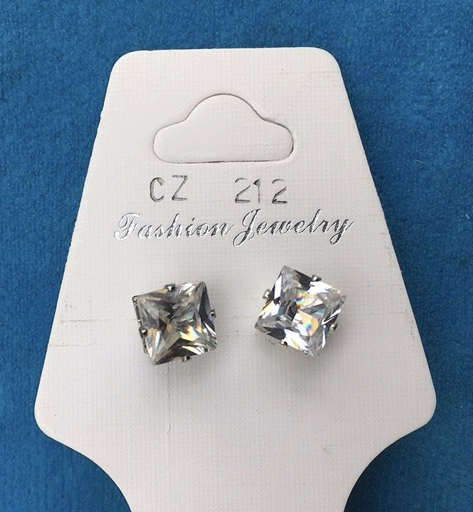 Orecchini Cristalli Bianchi CZ212