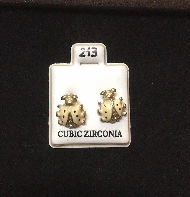 Orecchini Coccinelle Bianche CZ213