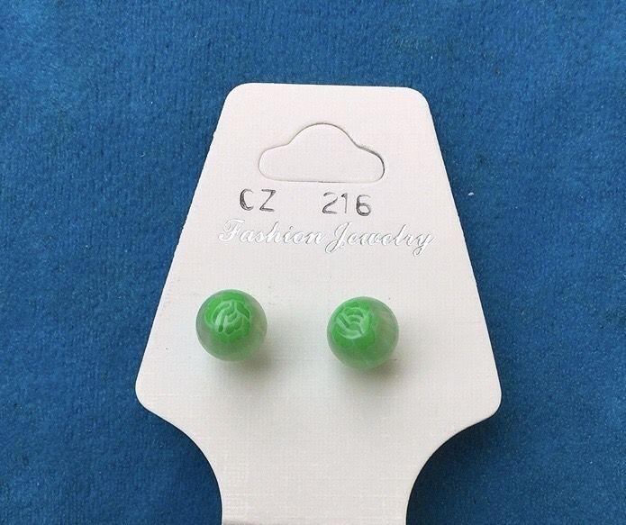 Orecchini Palline Verdi CZ216