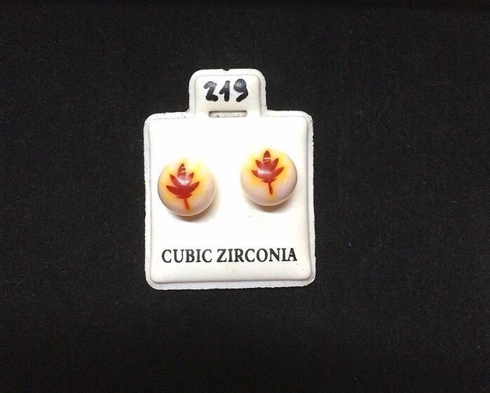 Orecchini Palline Foglia CZ219