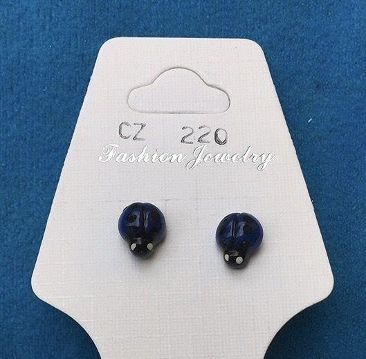 Orecchini Coccinelle Blu CZ220