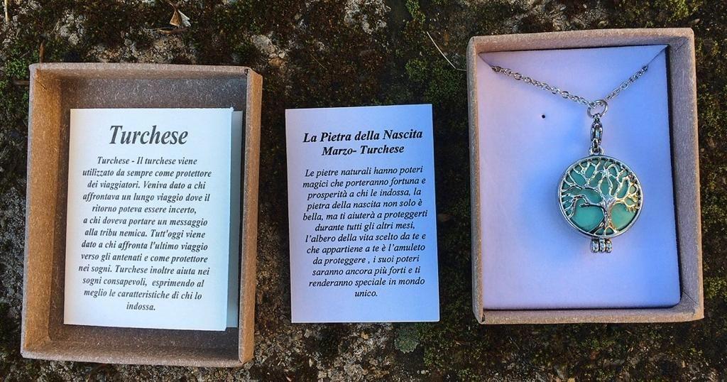 Collana Albero Vita Turchese CTur09