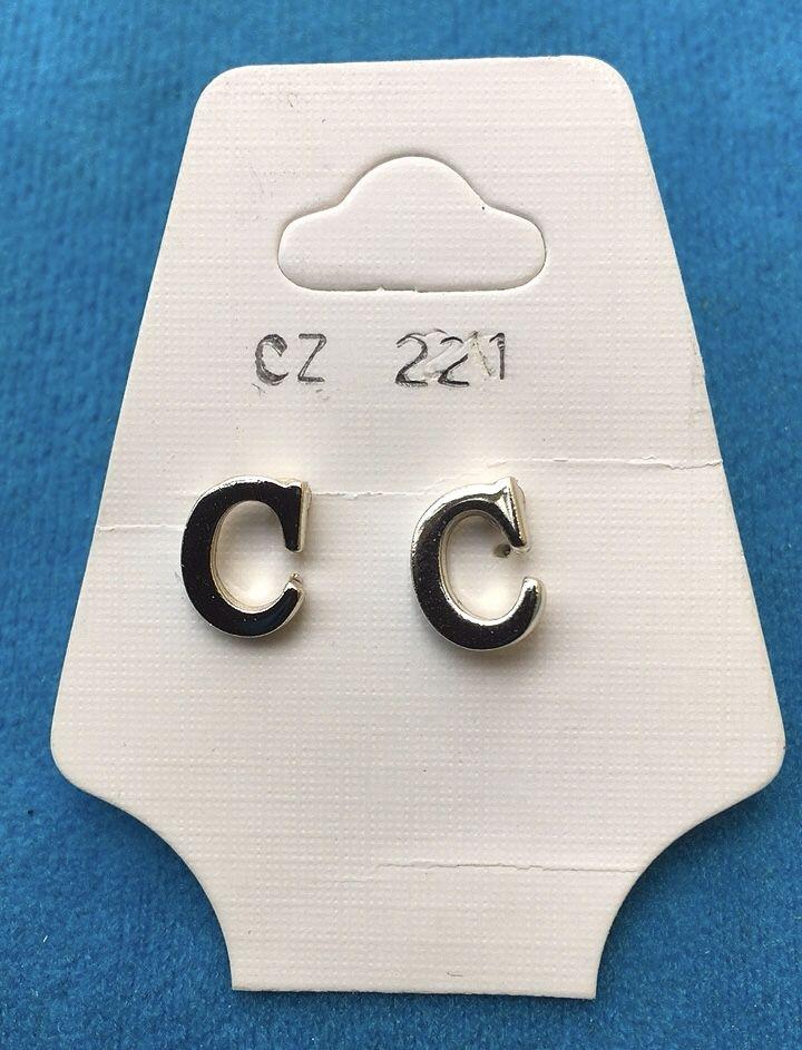 Orecchini Lettere C CZ221