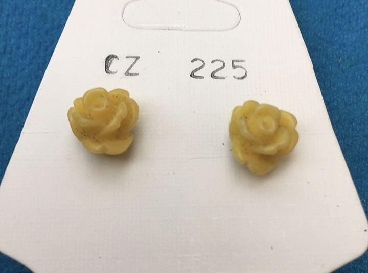 Orecchini Roselline Gialle CZ225