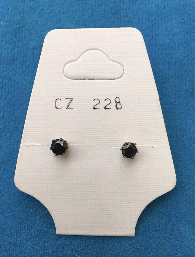 Orecchini Cristalli Neri CZ228