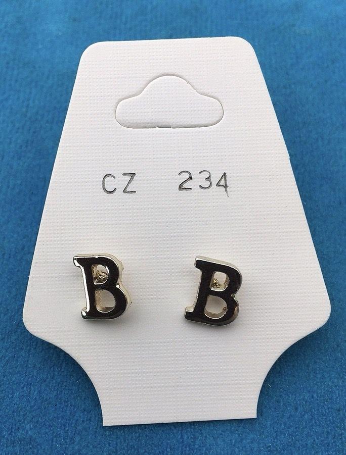 Orecchini Lettere B CZ234