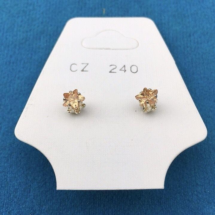 Orecchini Cristalli Beige CZ240