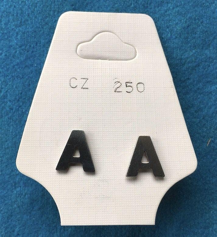 Orecchini Lettere A CZ250