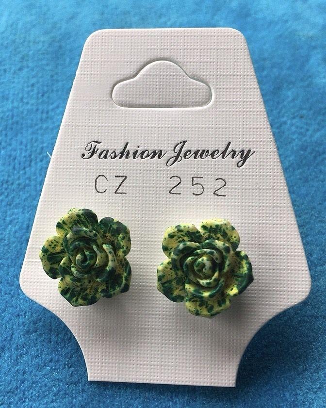Orecchini Rose Verdi CZ252