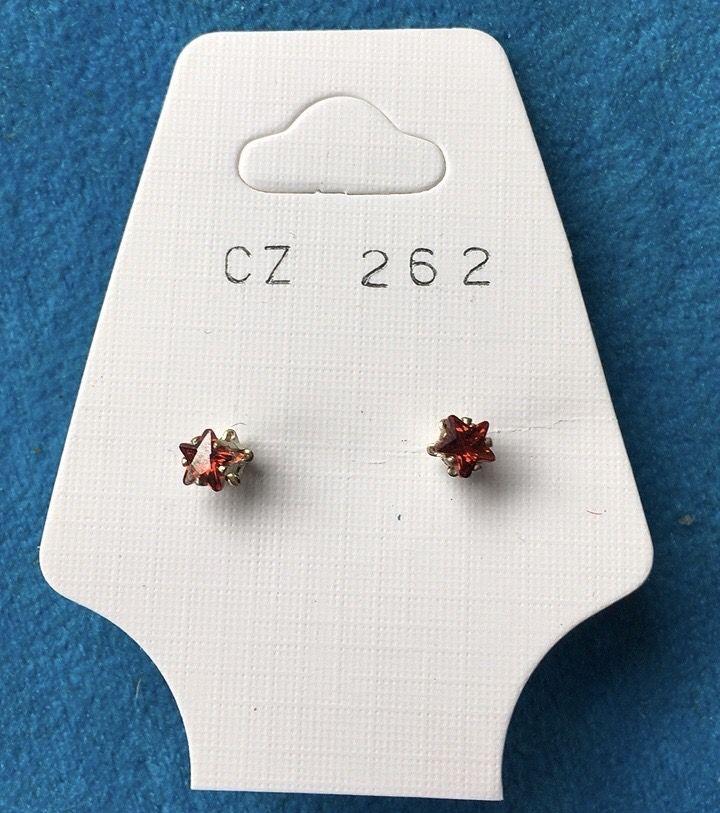 Orecchini Cristalli Rossi CZ262