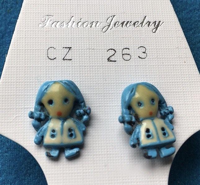 Orecchini Bamboline Blu CZ263