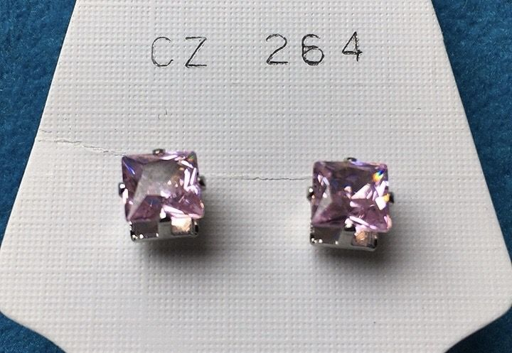 Orecchini Cristalli Rosa CZ264