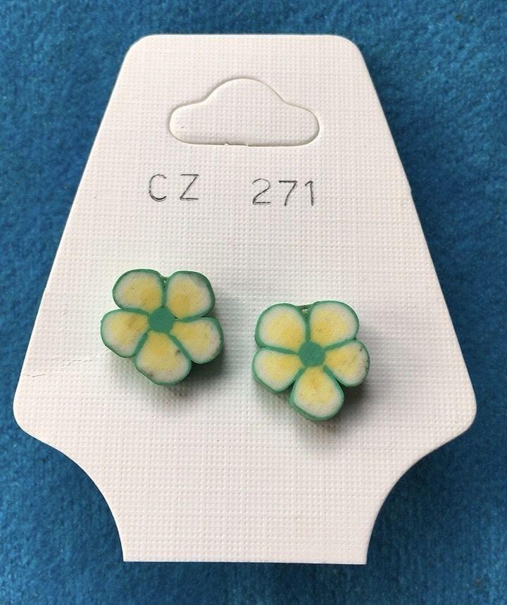 Orecchini Fiori Gialli CZ271