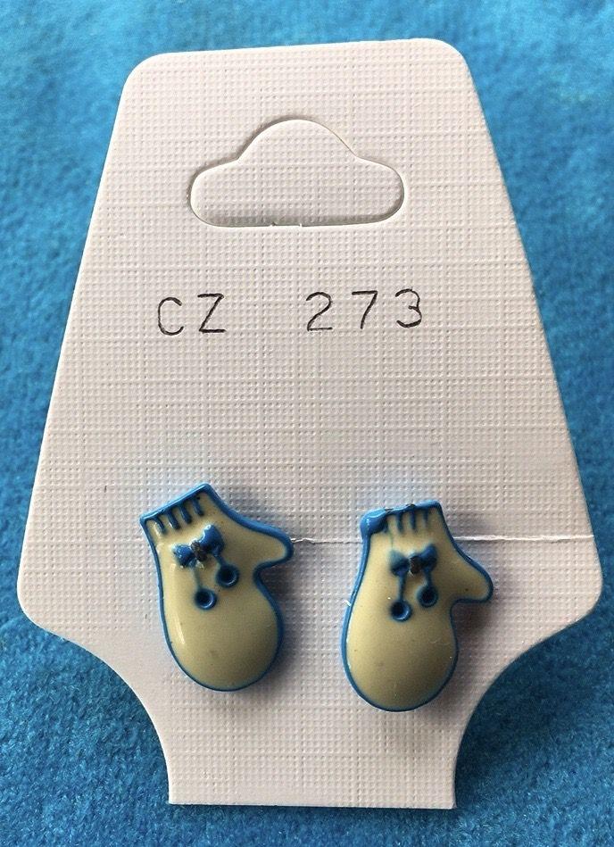 Orecchini Guanti Smaltati CZ273