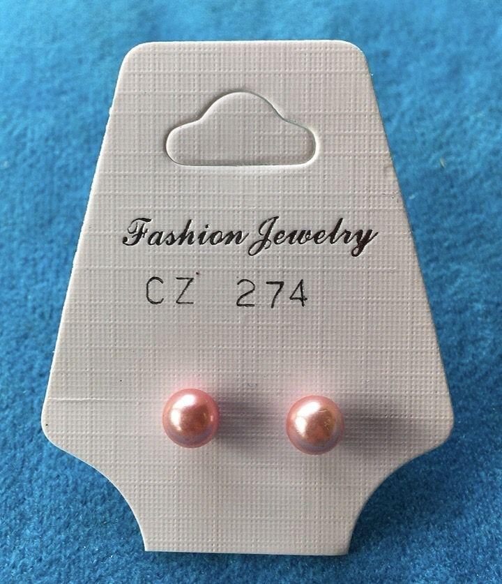 Orecchini Perline Rosa CZ274