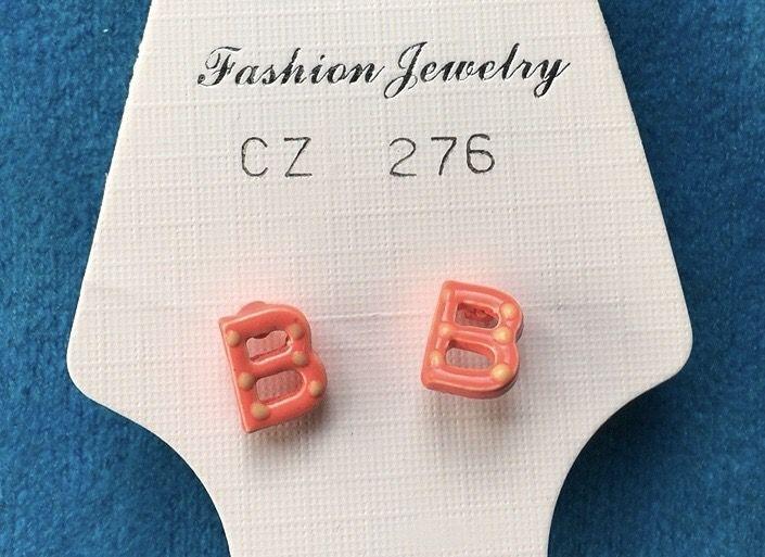 Orecchini Lettere B CZ276